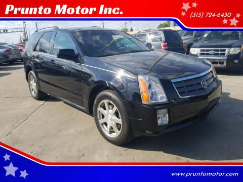 2005 Cadillac SRX for sale at Prunto Motor Inc. in Dearborn MI