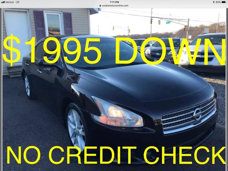 2010 Nissan Maxima for sale at Cooks Motors in Westampton NJ
