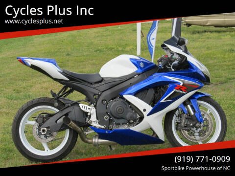 2009 Suzuki GSXR 750 for sale at Cycles Plus Inc in Garner NC