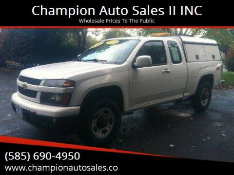 2010 Chevrolet Colorado for sale at Champion Auto Sales II INC in Rochester NY