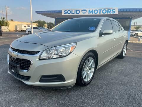 2014 Chevrolet Malibu for sale at SOLID MOTORS LLC in Garland TX