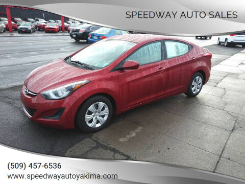 2016 Hyundai Elantra for sale at Speedway Auto Sales in Yakima WA