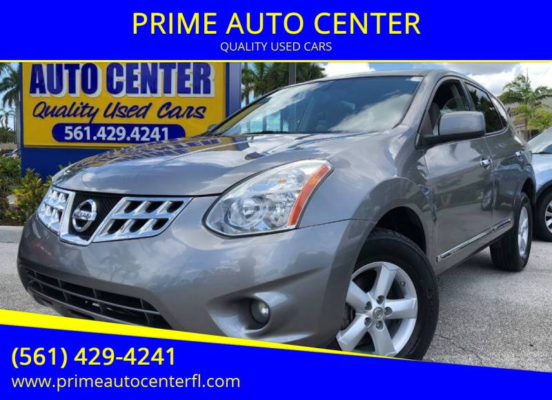2013 Nissan Rogue for sale at PRIME AUTO CENTER in Palm Springs FL