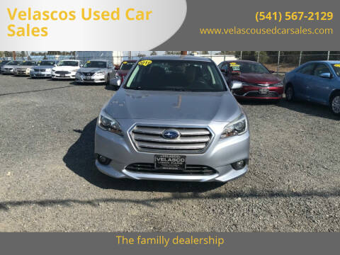 2016 Subaru Legacy for sale at Velascos Used Car Sales in Hermiston OR