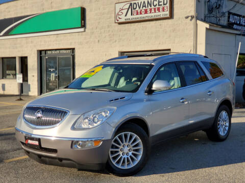 2012 Buick Enclave for sale at Advanced Auto Sales in Tewksbury MA
