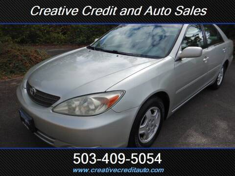 2002 Toyota Camry for sale at Creative Credit & Auto Sales in Salem OR