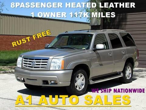 2003 Cadillac Escalade for sale at A1 Auto Sales in Burr Ridge IL