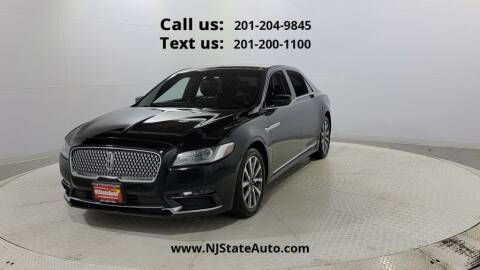 2017 Lincoln Continental for sale at NJ State Auto Used Cars in Jersey City NJ