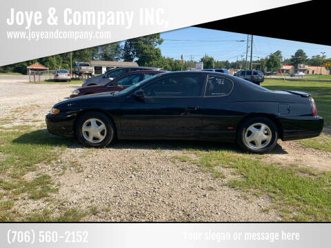 2004 Chevrolet Monte Carlo for sale at Joye & Company INC, in Augusta GA