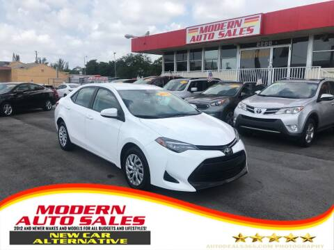 2018 Toyota Corolla for sale at Modern Auto Sales in Hollywood FL