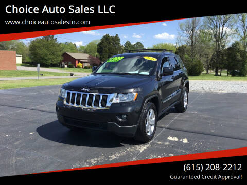 2013 Jeep Grand Cherokee for sale at Choice Auto Sales LLC - Cash Inventory in White House TN