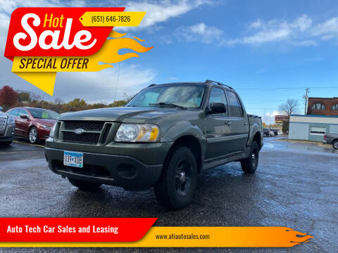 2004 Ford Explorer Sport Trac for sale at Auto Tech Car Sales and Leasing in Saint Paul MN