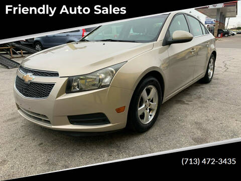 2012 Chevrolet Cruze for sale at Friendly Auto Sales in Pasadena TX