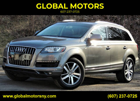 2014 Audi Q7 for sale at GLOBAL MOTORS in Binghamton NY