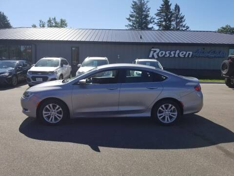 2015 Chrysler 200 for sale at ROSSTEN AUTO SALES in Grand Forks ND