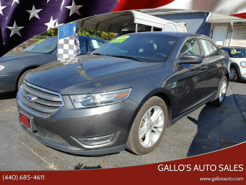 2016 Ford Taurus for sale at Gallo's Auto Sales in North Bloomfield OH