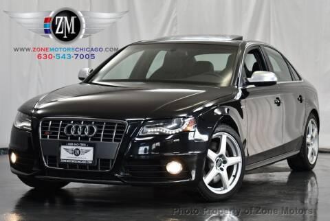 2012 Audi S4 for sale at ZONE MOTORS in Addison IL
