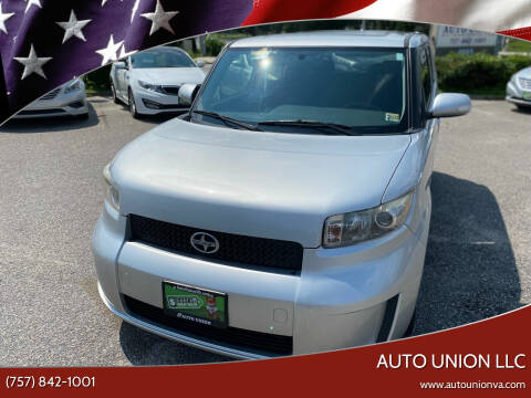 2008 Scion xB for sale at Auto Union LLC in Virginia Beach VA