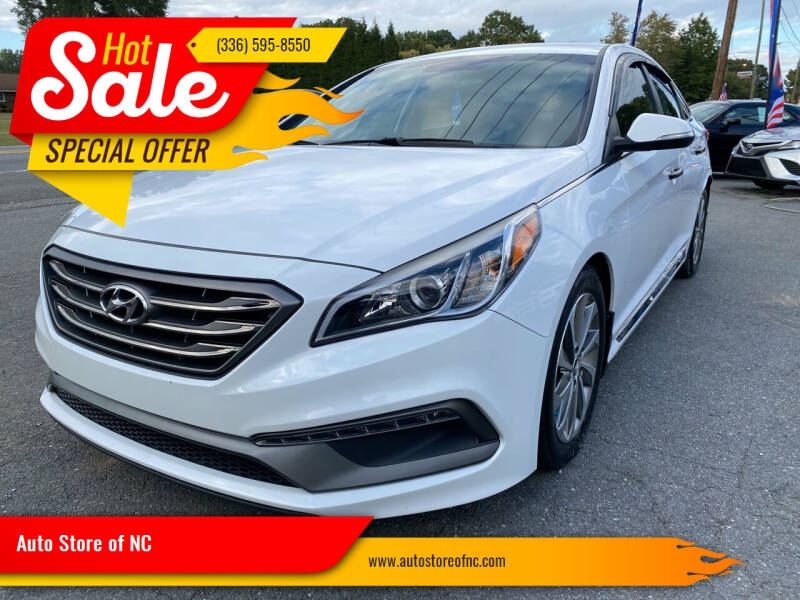 2015 Hyundai Sonata for sale at Auto Store of NC in Walkertown NC