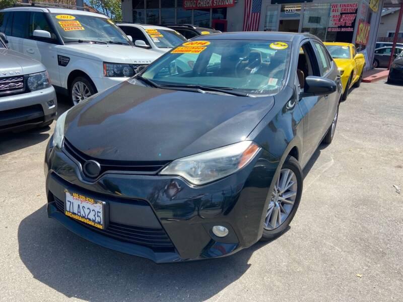 2014 Toyota Corolla for sale at ALL CREDIT AUTO SALES in San Jose CA