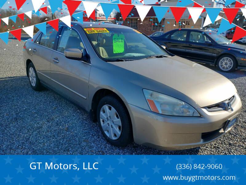 2003 Honda Accord for sale at GT Motors, LLC in Elkin NC