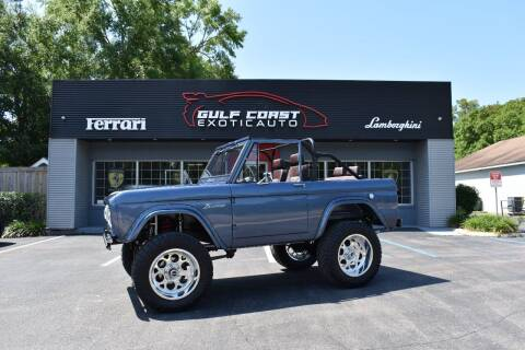1966 Ford Bronco for sale at Gulf Coast Exotic Auto in Biloxi MS