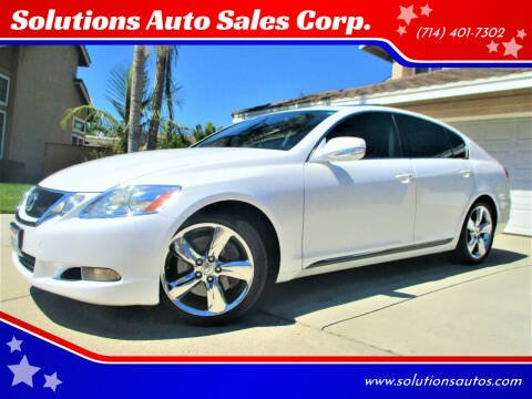 2008 Lexus GS 350 for sale at Solutions Auto Sales Corp. in Orange CA