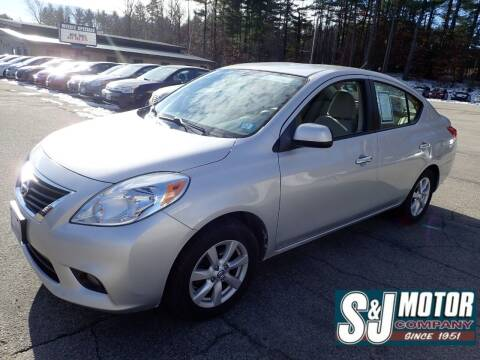 2012 Nissan Versa for sale at S & J Motor Co Inc. in Merrimack NH