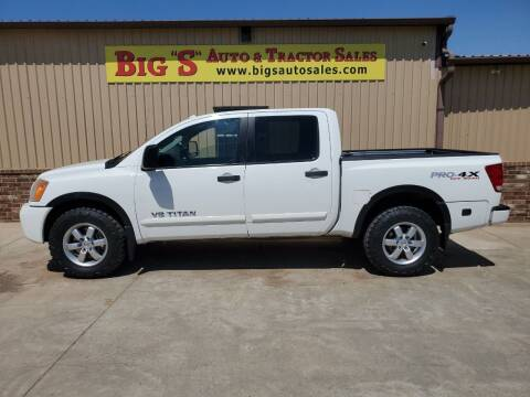 2012 Nissan Titan for sale at BIG 'S' AUTO & TRACTOR SALES in Blanchard OK