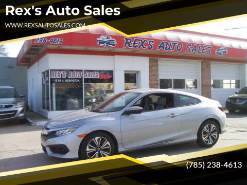 2016 Honda Civic for sale at Rex's Auto Sales in Junction City KS