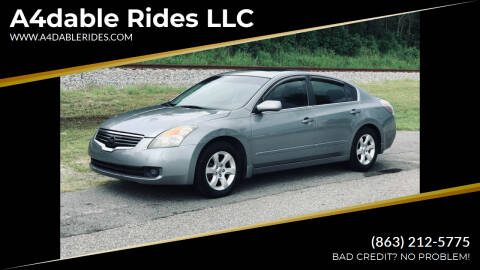 2009 Nissan Altima for sale at A4dable Rides LLC in Haines City FL