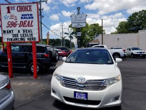 2010 Toyota Venza for sale at 1st Choice Auto Sales in Newport News VA