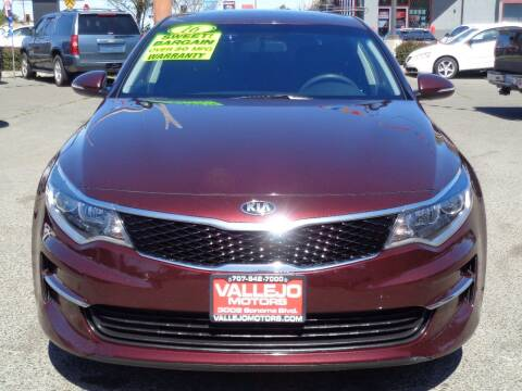 2016 Kia Optima for sale at Vallejo Motors in Vallejo CA