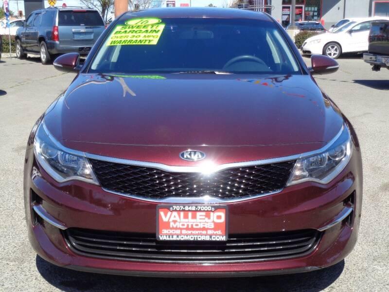 2016 Kia Optima for sale at Vallejo Motors in Vallejo CA