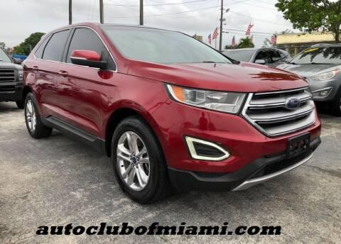 2015 Ford Edge for sale at AUTO CLUB OF MIAMI, INC in Miami FL