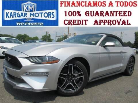 2018 Ford Mustang for sale at Kargar Motors of Manassas in Manassas VA