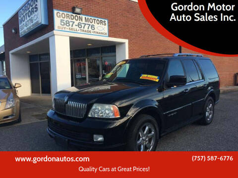 2006 Lincoln Navigator for sale at Gordon Motor Auto Sales Inc. in Norfolk VA