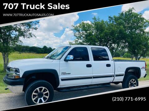 2002 Chevrolet Silverado 2500HD for sale at 707 Truck Sales in San Antonio TX