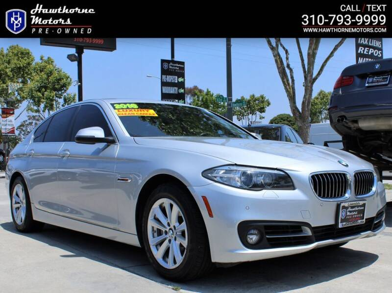 2016 BMW 5 Series for sale at Hawthorne Motors Pre-Owned in Lawndale CA