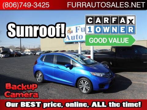 2016 Honda Fit for sale at FURR AUTO SALES in Lubbock TX