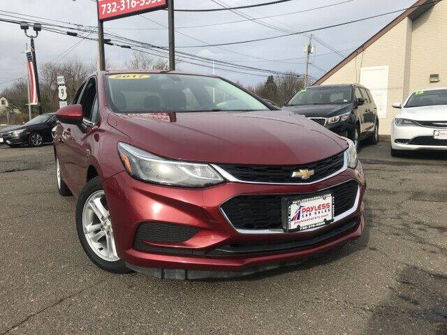 2017 Chevrolet Cruze for sale at PAYLESS CAR SALES of South Amboy in South Amboy NJ
