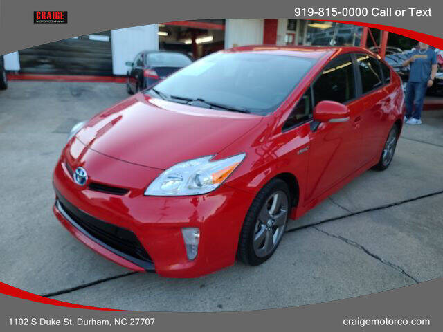 2015 Toyota Prius for sale at CRAIGE MOTOR CO in Durham NC