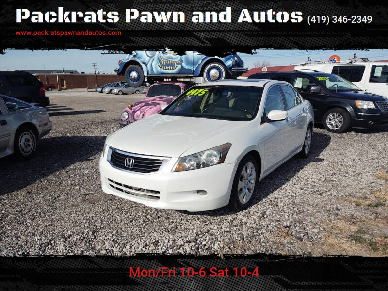2008 Honda Accord for sale at Packrats Pawn and Autos in Defiance OH