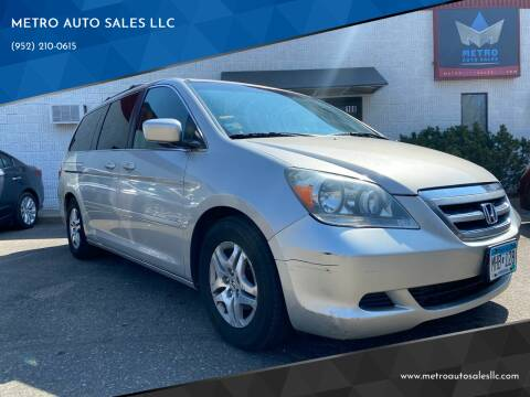 2005 Honda Odyssey for sale at METRO AUTO SALES LLC in Blaine MN
