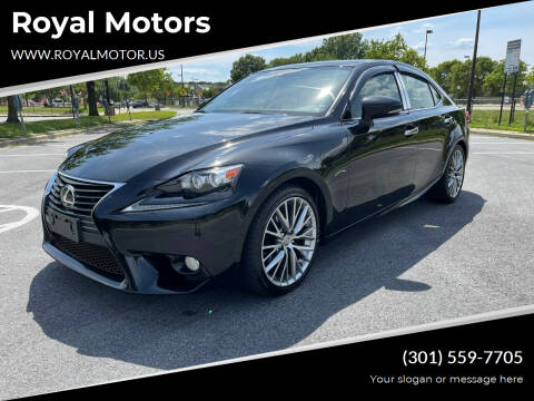 2014 Lexus IS 250 for sale at Royal Motors in Hyattsville MD