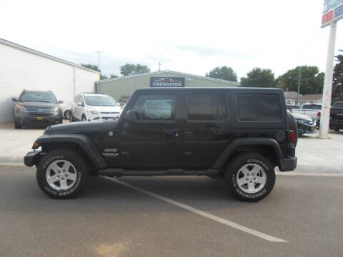 2012 Jeep Wrangler Unlimited for sale at Creighton Auto & Body Shop in Creighton NE