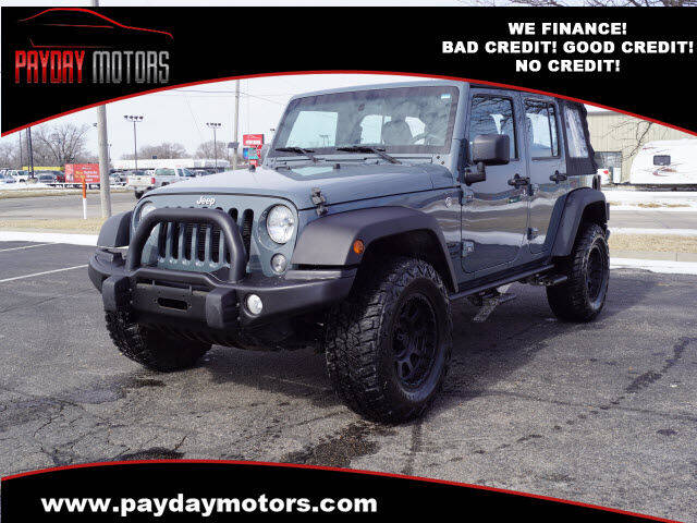 2015 Jeep Wrangler Unlimited for sale at Payday Motors in Wichita KS
