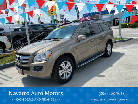 2008 Mercedes-Benz GL-Class for sale at Navarro Auto Motors in Hialeah FL