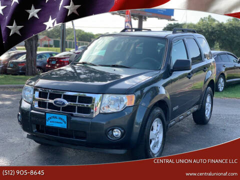2008 Ford Escape for sale at Central Union Auto Finance LLC in Austin TX