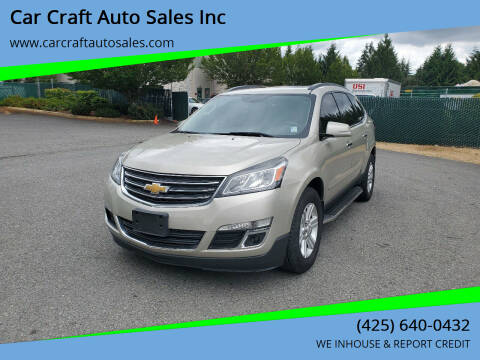 2013 Chevrolet Traverse for sale at Car Craft Auto Sales Inc in Lynnwood WA